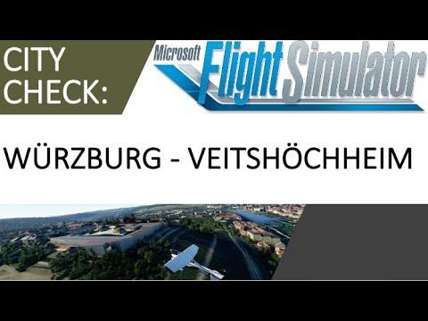 MS Flight Simulator 2020: Ein Rundflug über Würzburg bei bestem Wetter