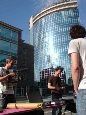 Ungenutzte Gebäuden wurde endlich ein Sinn und Zweck gegeben -- als Filmkulisse