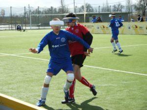 Nix für Weicheier: Blindenfußball