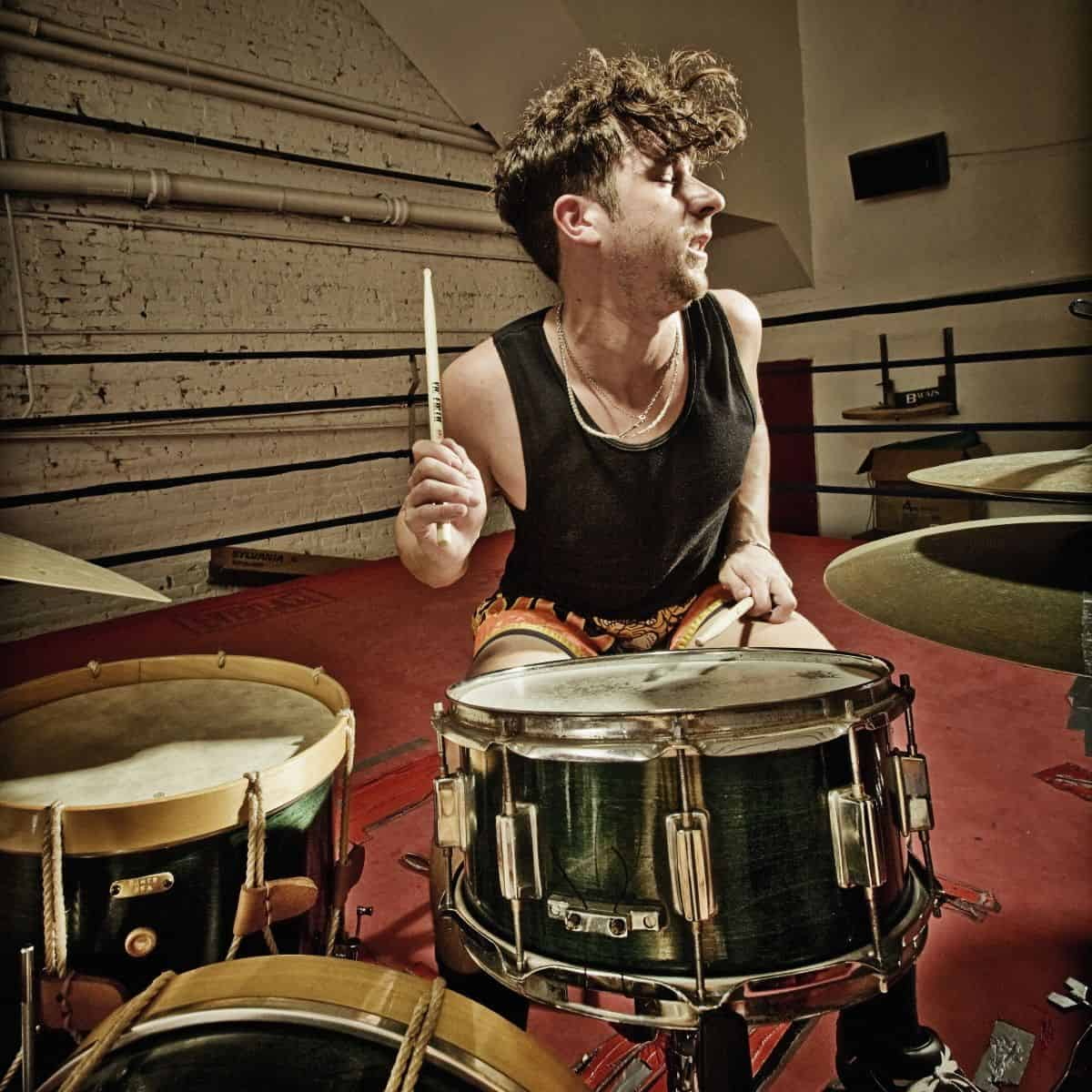 Sean Noonan Drumming. Photo: Dirk Eusterbrock