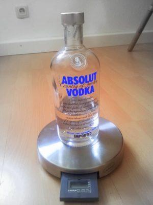 Flasche ungewogen