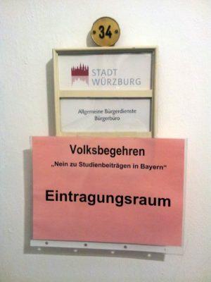 Raum 34 im Würzburger Rathaus - das Zimmer der ehemaligen Meldestelle.