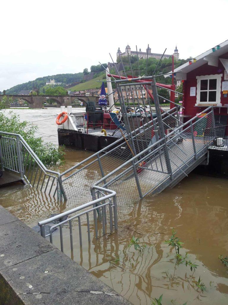 Hochwasser am Main in Würzburg 2013