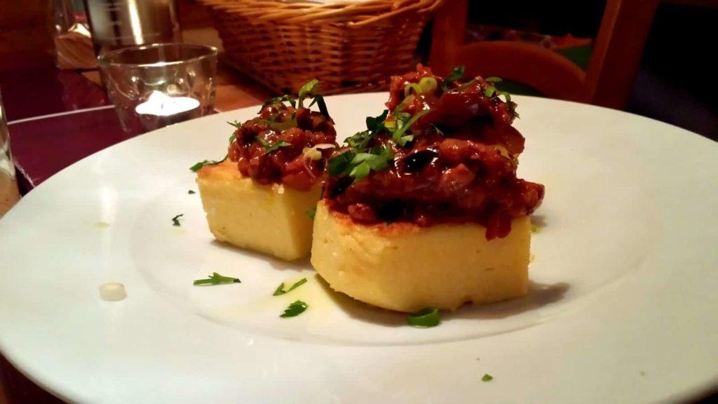 Vorspeise #1: Polenta mit Gemüste