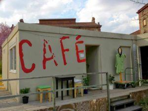 """Bar 87"", das Kommunen-Café auf dem Bürgerbräu-Gelände"