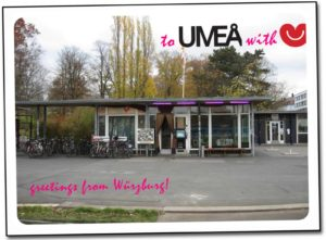 Grüße aus Würzburg - aus dem dem Café zum schönen René