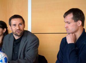Frisch von der WM im Blindenfußball in Japan zurück: Enrico Göbel und Sebastian Schäfer