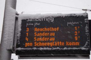 Verspätung und Ausfälle wegen Schneefall