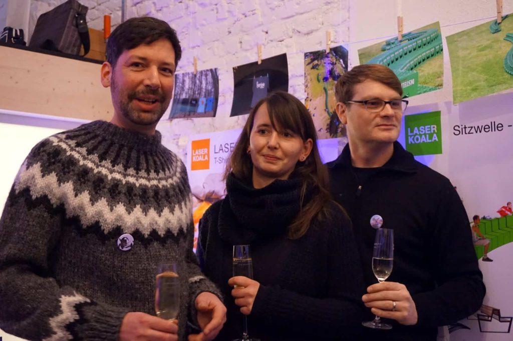 Die Laserkoalas: Matthias Braun, Franziska Liebig, Christian Rudolph - Prost!