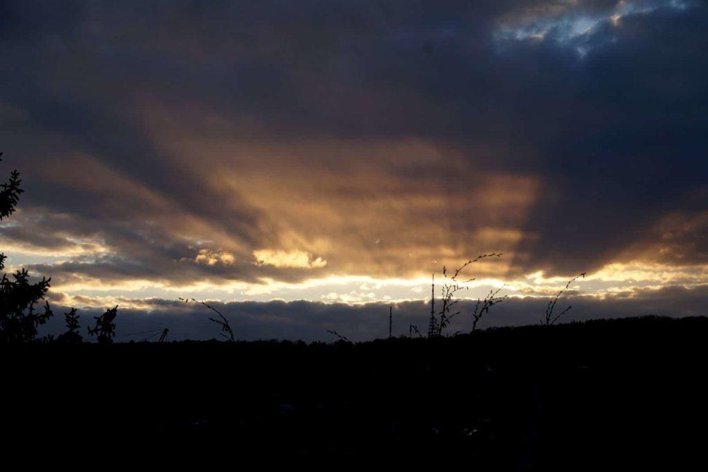Sonnenuntergang über der Frankenwarte