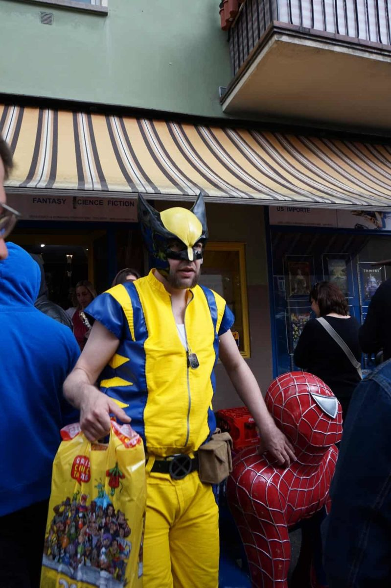 Wolverine beim Einkaufen