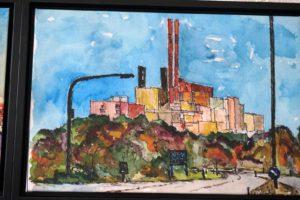 Auf Leinwand ebenso bunt wie in echt: Das Müllheizkraftwerk