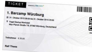 Ticket Barcamp Würzburg
