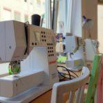 Die Nähmaschinen für die Workshops