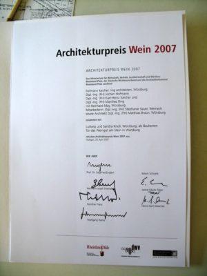 Architekturpreis Wein 2007