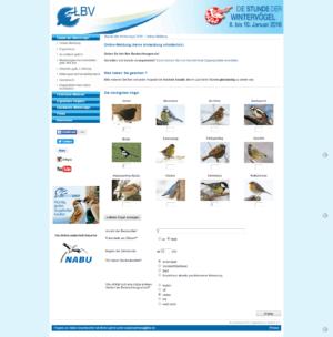 Das Online-Formular für die Ergebnisse der Zählung.