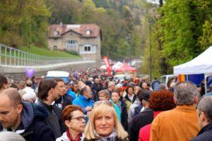 So viele Fußgänger wird man am Zeller Bock so schnell nicht mehr sehen.