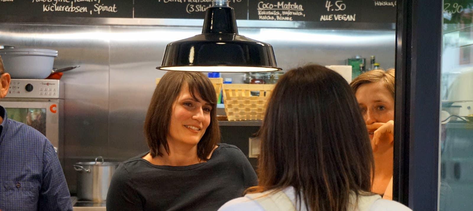 Simone Hilpert, die glückliche Straßenküchenchefin
