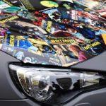 """Die Motorhaube des """"Batmobils"""""""