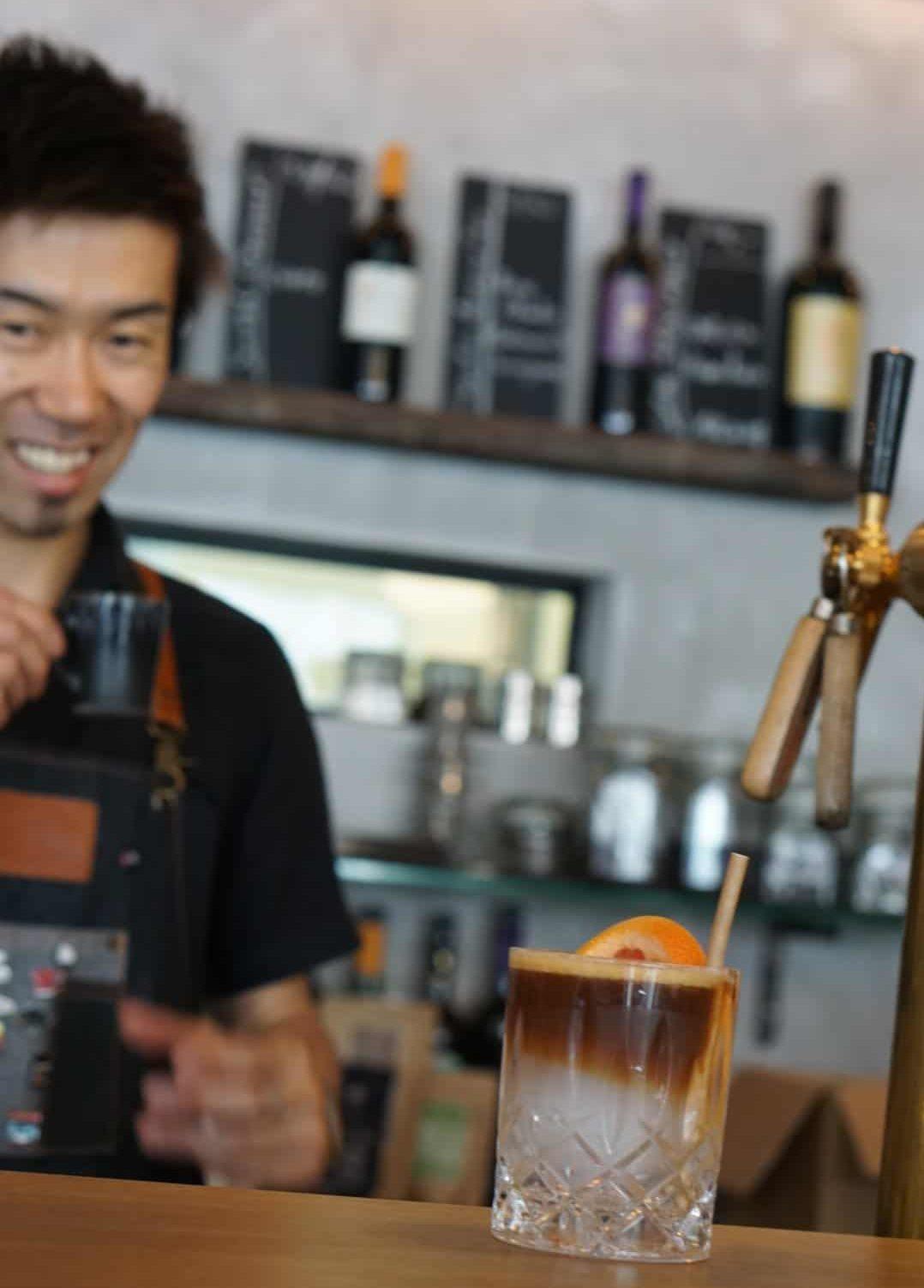 Yasu lässt Kaffee poppen